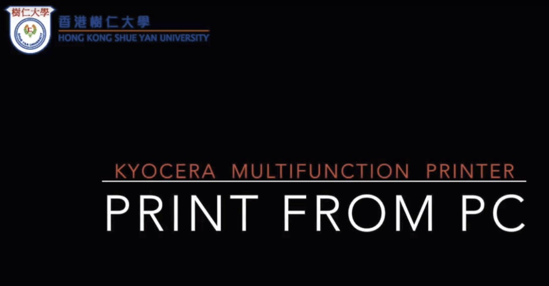 Print from PC to Kyocera Multifunction Printer