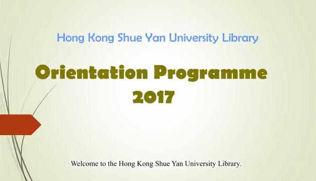 HKSYU Library Orientation for Staff 2017