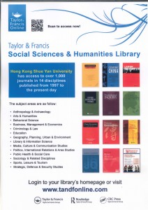 Taylor & Francis: Social Sciences & Humanities Library