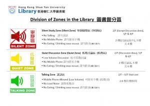 Division of zones 2