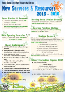 New Services 2015-2016