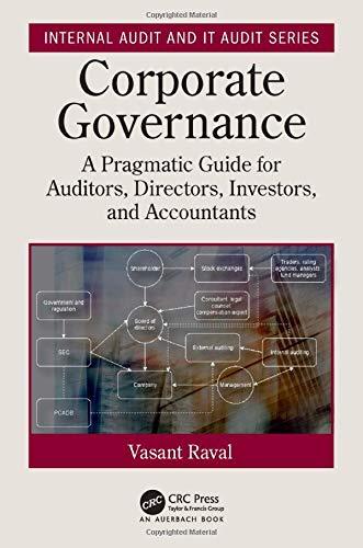 Corporate governance : a pragmatic guide for auditors, directors, investors, and accountants /  Raval, Vasant H. (Vasant Harishanker), 1940- author