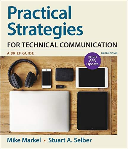 Practical strategies for technical communication : a brief guide /  Markel, Michael H