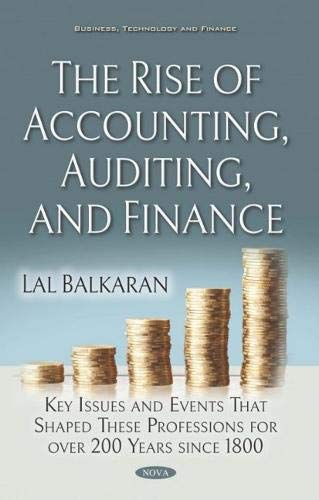 The rise of accounting, auditing, and finance : key issues and events that shaped these professions for over 200 years since 1800 /  Balkaran, Lal, author