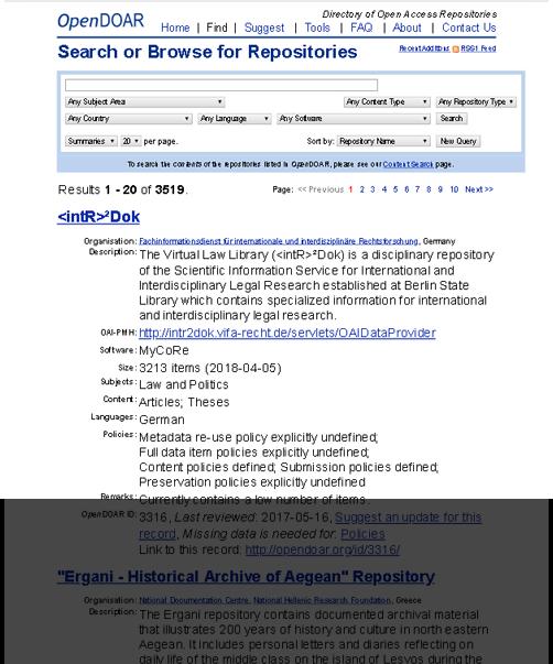 DOAR Open Repositories